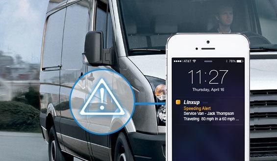 linxup fleet tracking alert