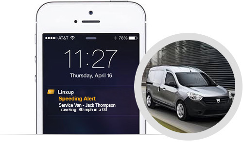 Linxup GPS tracking real time alerts