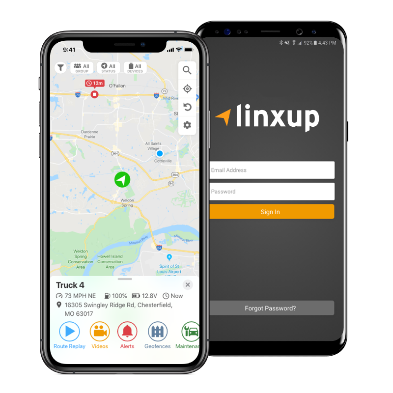 linxup gps tracking software app